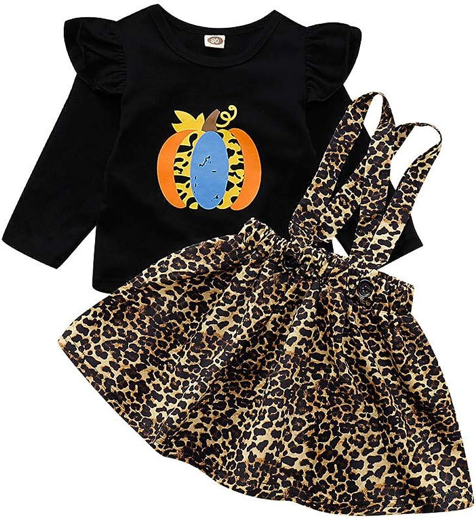 Kid Baby Girls Dress Pumpkin Printed Sleeveless Children Halloween Costume New