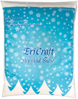 Ericraft Artificial Snow,8 Liters, 9.2 oz, Plastic Snow for Decoration and Handcraft