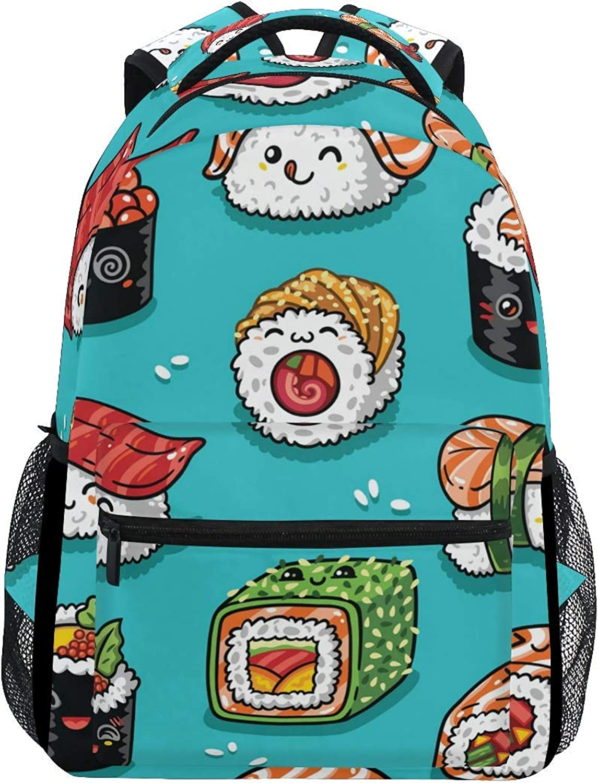 7ff4c4d43d09 Backpack Cartoon Backpack Kids Food Sushi Japanese Emoji Cute Men ...