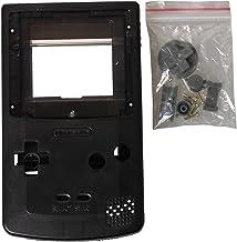 eJiasu Full Replace Parts Housing Shell Pack for Nintendo GBC Gameboy Color (Transparent Black Case 10PCS)