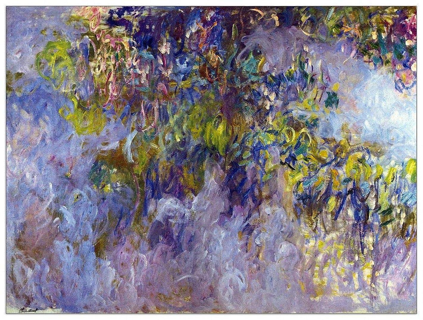 ArtPlaza TW92070 Monet Claude - Wisteria I Decorative Panel 35.5x27.5 Inch Multicolored