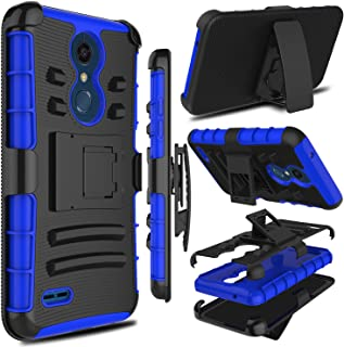 LG K30 Case, LG Xpression Plus Case, LG K10 2018 Case, Zenic Heavy Duty Shockproof Full-Body Protective Hybrid Case Cover with Swivel Belt Clip and Kickstand for LGPremierProLTE(Blue)