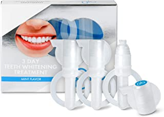 GLO Science 3 Day Teeth Whitening Gel Treatment for Fast, Pain-Free, Long Lasting Results. Clinically Proven. Includes 3 GLO Vials