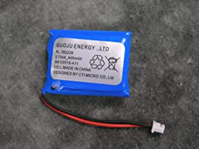 Educator E Collar Replacement Battery for 300TS, 300, 400, 900 Receiver and Transmitter Remote Dog Trainer Li-Po 3.7V 400AH Battery, BP37TR
