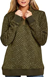 green quilted pullover
