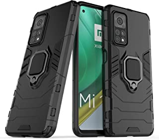 Case for Xiaomi Mi 10t / Mi 10t Pro Case with Rotating Ring Kickstand & Magnetic Layer Protective Cover Compatible with Xi...