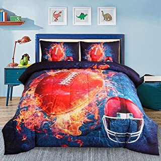 Sisher American Football Bedding Set Full Size, Teens 3D...