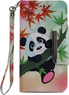 Wiitop Compatible Apple iPhone X Case, iPhone 10 Case, iPhone Ten Case,Leather Wallet Phone Cover [Kickstand Wrist Strap][ID Card Slot] Flip Full Body Protective Magnetic Closure Stand (Animal Panda)