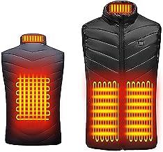 Gilet chauffant électrique pour homme et femme - Veste chauffante USB - Grande taille pour l'extérieur, moto, camping, pêc...