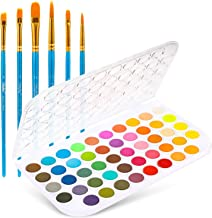 Fundamentals Watercolor Artist Set, Ohuhu 48-Color Watercolor Pan Set Vibrant Water-Color Cakes, with a Variety of 6 Paint...