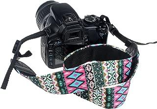 CEARI VSM-06 Vintage Camera Shoulder Neck Strap for Canon EOS Rebel T6S T6 T5i T5 T4i T3i T3 T2i T1i XTi XT XSi XS SL1 Digital SLR Camera - Pink