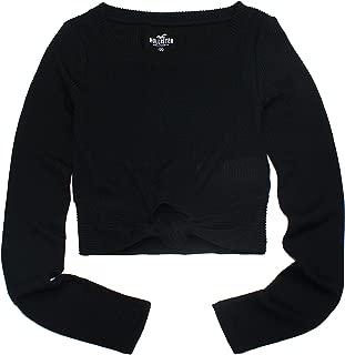 Hollister Women's Knotted Crop T-Shirt HOW-60