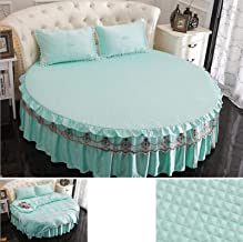 Silk Round Bed Bed Skirt Round Bedspread lace Princess Style Pleated Skirt Design Bed Sheet 100% Silk Quilted Bed Cover Be...