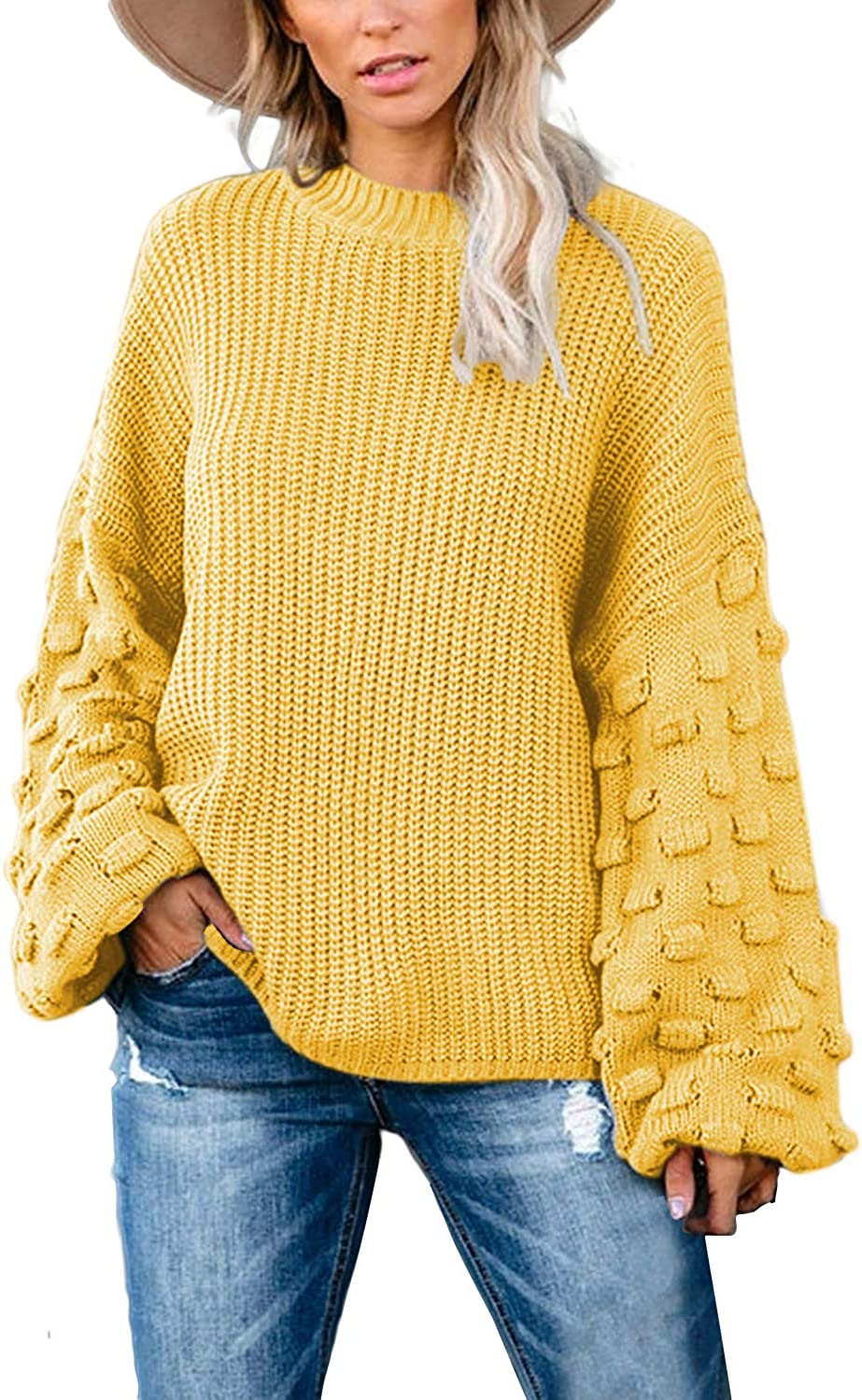Kisscynest Women's Casual Oversized Genuine Free Shipping Pullover At the price Sweater S Long Cute
