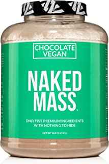 Naked Mass - Chocolate Vegan Weight Gainer - 8lb Bulk, GMO Free, Gluten Free, Soy Free & Dairy Free. No Artificial Ingredi...