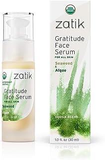 Zatik Naturals - Seaweed and Algae Organic Wrinkle Solution Creme,Gratitude USDA Organic Face Serum (1.0 fl oz,30ml) Vegan...