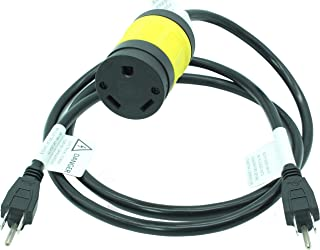 30A Generator Parallel Cord Kit, Connect two Different RV Generators uses Standard 15A Male Ext Plug to TT-30R or L5-30R Female Connector. 125 VAC, 30 Amp - 4000/3750 Watts (Straight Blade TT30R)
