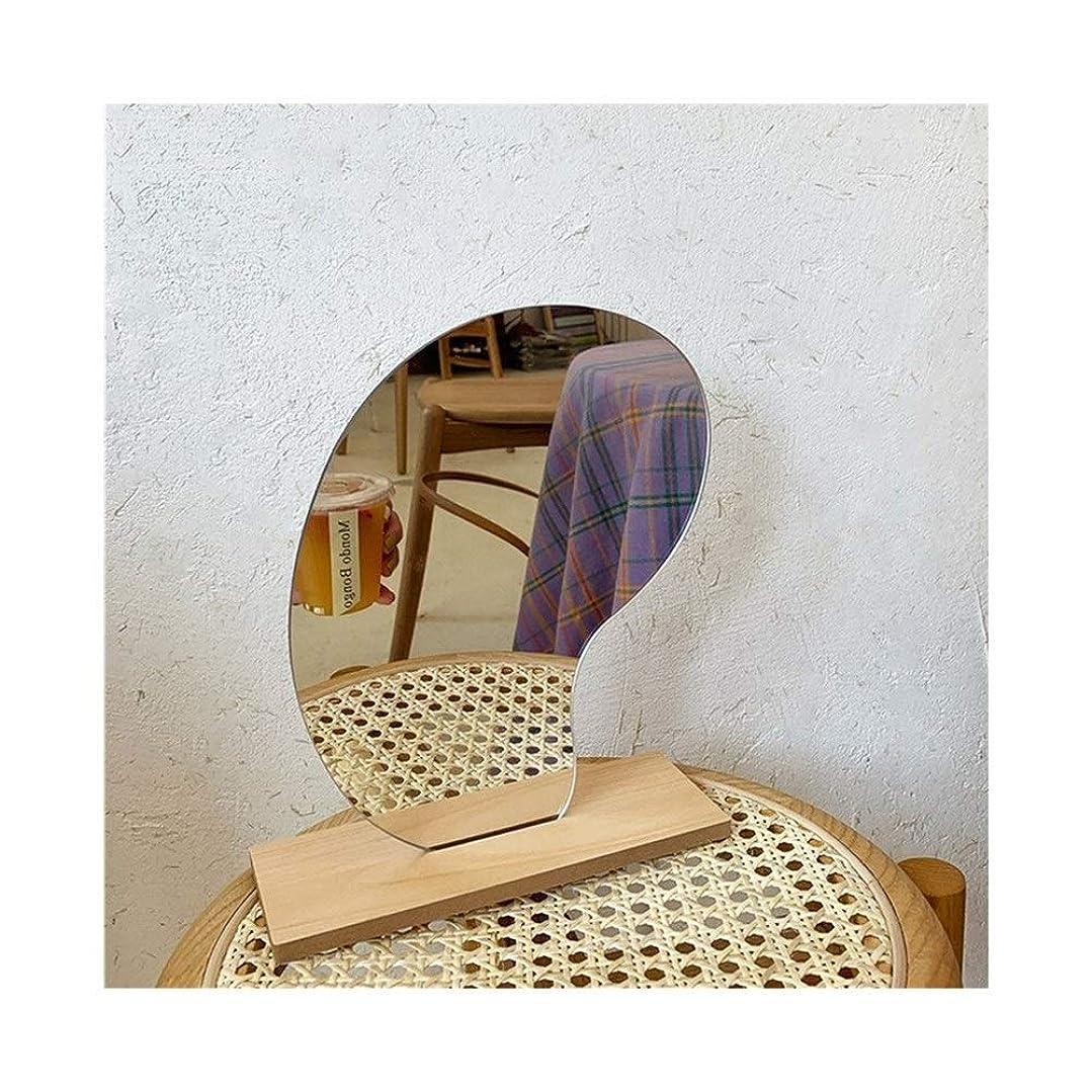 粒子ブリッジ突き刺すLYDBM 化粧鏡木製ベース化粧品の美容ツール