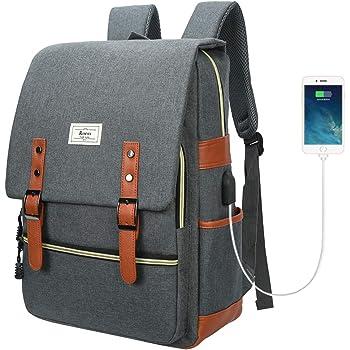 リュックサック バックパック メンズ ショルダーバッグ USB ポート搭載14インチPCリュック レディース メンズ 盗難防止 男女兼用通学通勤(グレー)