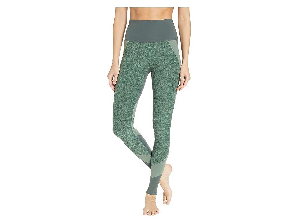 Beyond Yoga Color Blocked High-Waisted Long Leggings (Dark Tropic Triple Block) Women