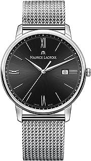 Maurice Lacroix - Reloj Analógico para Hombre de Cuarzo con Correa en Acero Inoxidable EL1118-SS002-310-1