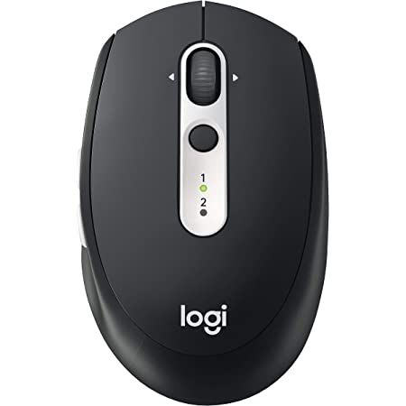 Logitech M585 Multi-Device Wireless Mouse – Control and Move Text/Images/Files Between 2 Windows and Apple Mac Computers and Laptops with Bluetooth or USB, 2 Year Battery Life, Graphite