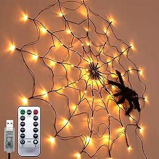Ding Yongliang Halloween pająk łańcuch świetlny, 1 metr Halloween LED pająk łańcuch świateł, łańcuch świetlny zasilany bat...