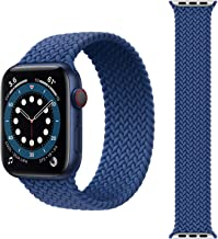 eller santé® Soft Braided Solo Loop Strap, Soft Stretchable Replacement Band Strap for iWatch Series SE,6,5,4,3,2,1 (42/44mm) 【Watch Not Included】