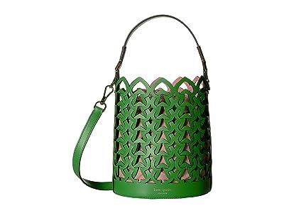 Kate Spade New York Dorie Small Bucket (Verona Green) Handbags