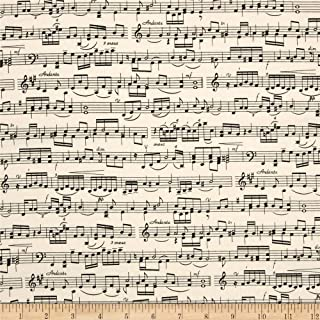 12 Metre Perfect for the budding musician Sheet Music Fabric Timeless Treasures 100/% cotton ideal for making face masks /& apparel etc