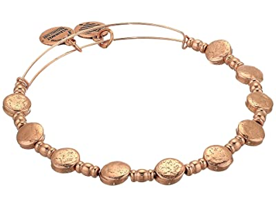 Alex and Ani Coin Charm Bangle (Shiny Rose Gold) Bracelet