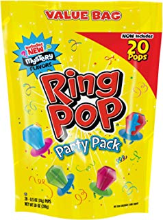 Ring Pop Individually Wrapped Variety Halloween Party Pack – 20 Count Candy Lollipop Suckers w/ Assorted Flavors