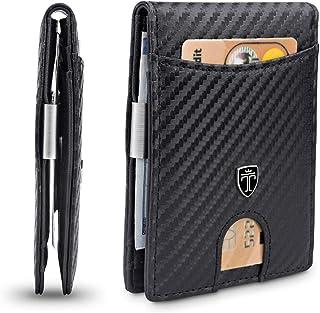 """TRAVANDO Portafoglio uomo piccolo con protezione RFID """"SEATTLE"""" Porta carte di credito con clip per contanti, Portafogli P..."""