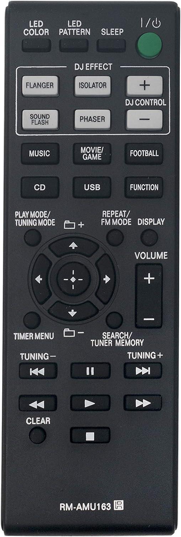 RM-AMU163 Replaced Remote fit for Sony Home Audio Bookshelf AV Receiver LBT-GPX77 LBT-GPX55 MHC-GPX88 MHC-GPX77 MHC-GPX55 MHC-GPX33 Shake-7 HCD-SHAKE5 HCD-SHAKE6D HCD-GPX33 HCD-GPX55 HCD-GPX77