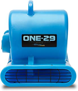 BlueDri One-29 1/3 HP High Velocity Heavy Duty Portable Air Mover Floor Carpet Dryer Blower Fan for Water Damage Equipment Restoration, Blue