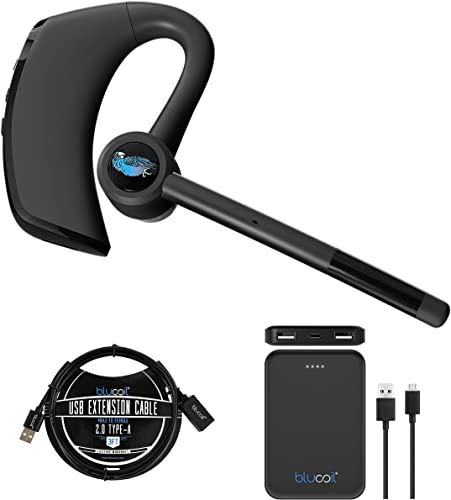 wholesale BlueParrott M300-XT in Ear Bluetooth Headset with Noise Cancelling Microphone for iOS & Android wholesale Bundle with Blucoil 5000mAh Portable Power new arrival Bank, and 3-FT USB 2.0 Type-A Extension Cable outlet sale