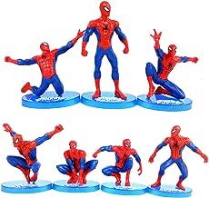 MEET Marvel Superhero Spider-Man Figures 7 Piece Set,Birthday Present and Cake top Decoration