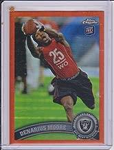 2011 Topps Chrome Refractor Parallel Denarius Moore Raiders Rookie Insert Card