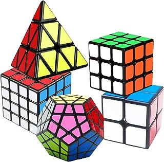 Speed Cube Set, Puzzle Cube, Magic Cube 2×2 3×3 4×4 Pyraminx Pyramid..