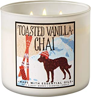 Bath and Body Works 2018 Holiday Limited Edition 3-Wick Candle (Toasted Vanilla Chai)
