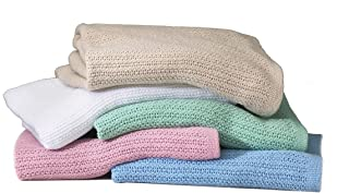 Open Weave Thermal Blankets- (White)