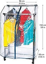 OTraki Funda Vestido para Carril de Ropas 120 x 110 cm Funda Perchero Protectora Chaquetas con Ventana Visual Fund Ropa Percha Ideal para Evitar el Polvo y Suciedad