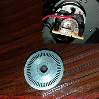 GAOHOU Replacement 60 Slot Steering Wheel Optical Encoder for Logitech G25/old G27/GT5 Stainless Steel