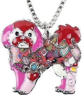 shih tzu dog pendant necklace