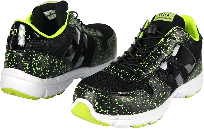 DDTX Safety Work shoes Unisex SB Steel Toe Breathable Lightweight Green 5-12UK