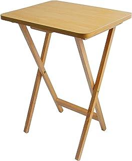 Premier Housewares - Mesa Auxiliar Plegable de Madera 49 x 39 x 65cm Color marrón Claro
