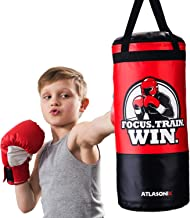 Hanging Kids Punching Bag for Ceiling/Wall 2 Ft, Unfilled | Professional Style Youth Punch Bag | Training in Martial Arts/...