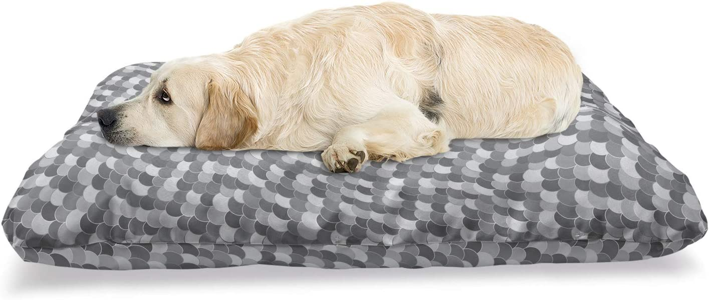 Ambesonne Quantity OFFer limited Abstract Pet Bed Continuous Circles Greyscale Semi in