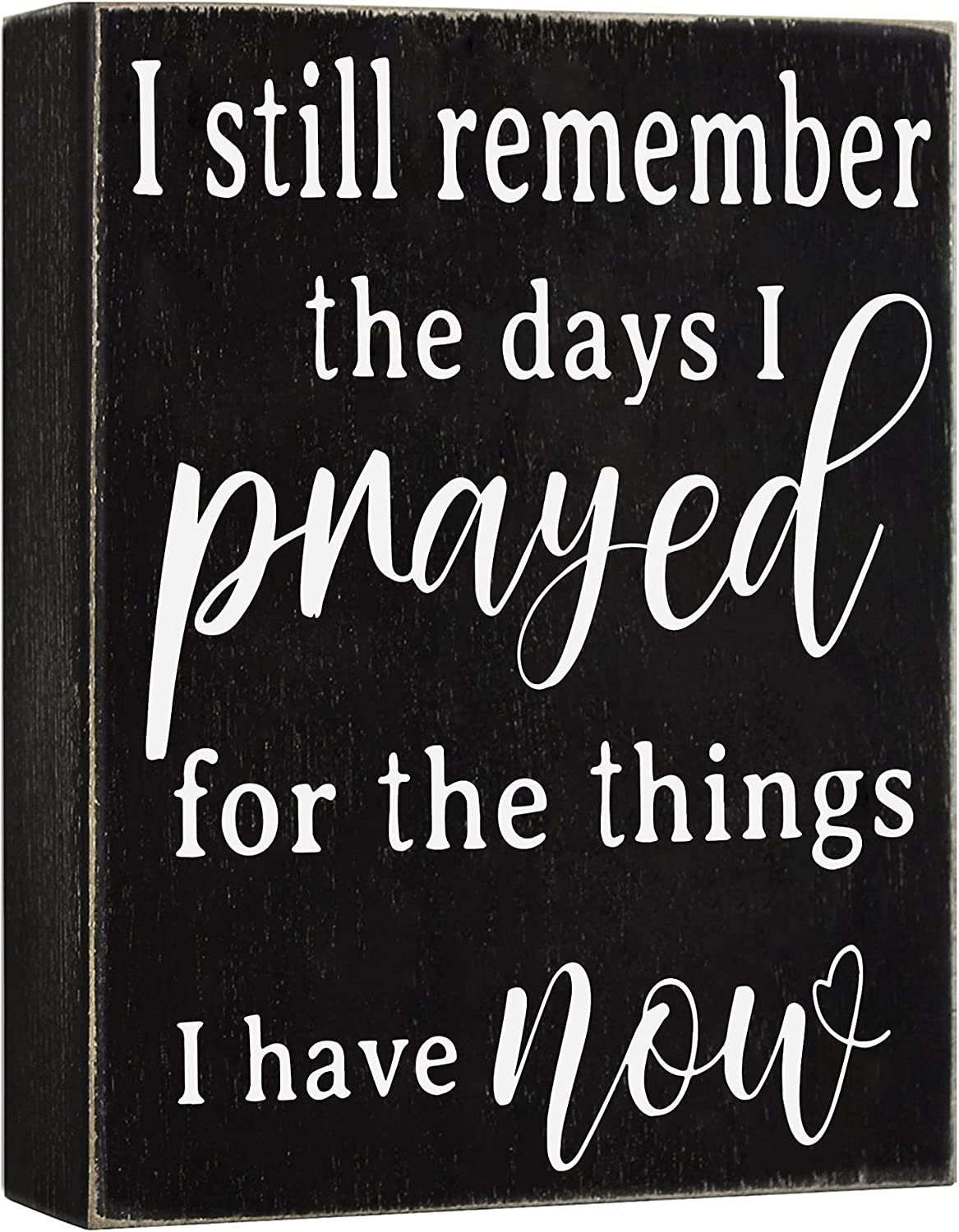 Cocomong Modern Farmhouse Decorations for Living Room, I Still Remember The Days I Prayed, Farmhouse Shelf Decor Accents, Wall Decoration for Home, Wooden House Decor Sign 6x8, Home Gifts for Women