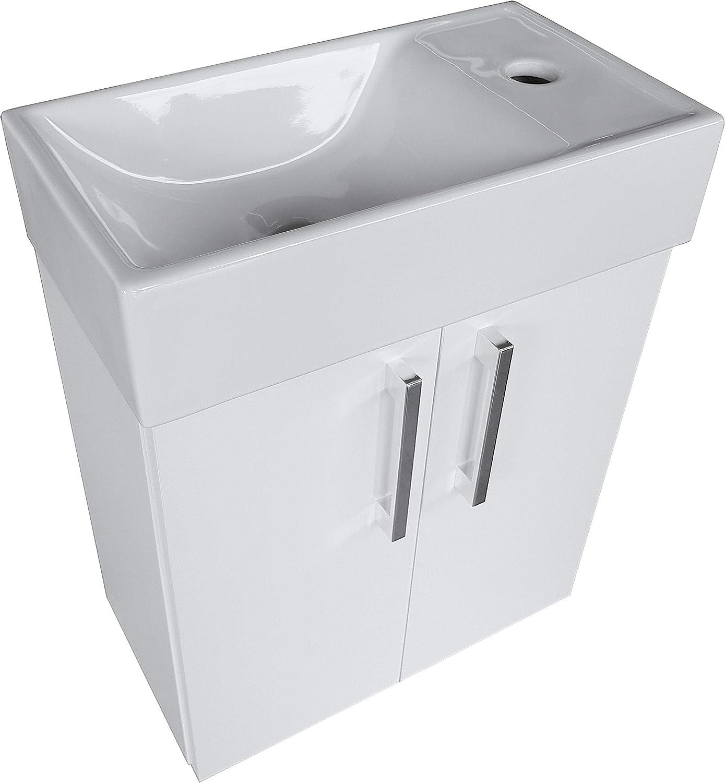 paplinskimoebel Lavabo con armario inferior mueble de ba/ño color blanco 40 x 22 izquierda//derecha